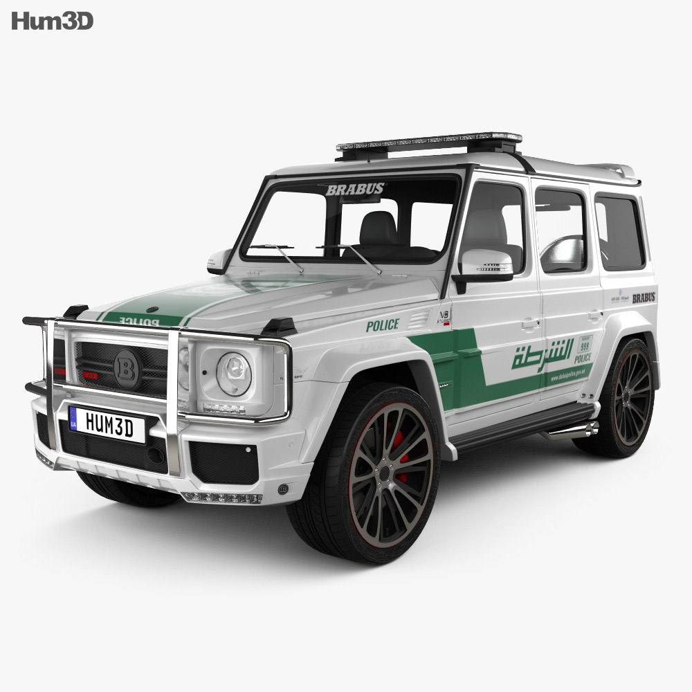 Mercedes-Benz G-class Brabus G700 Widestar Police Dubai 2013 3d model