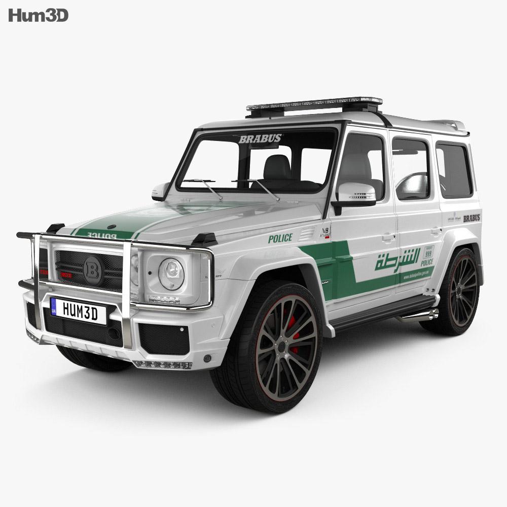 Mercedes-Benz G-class Brabus G700 Widestar Police Dubai