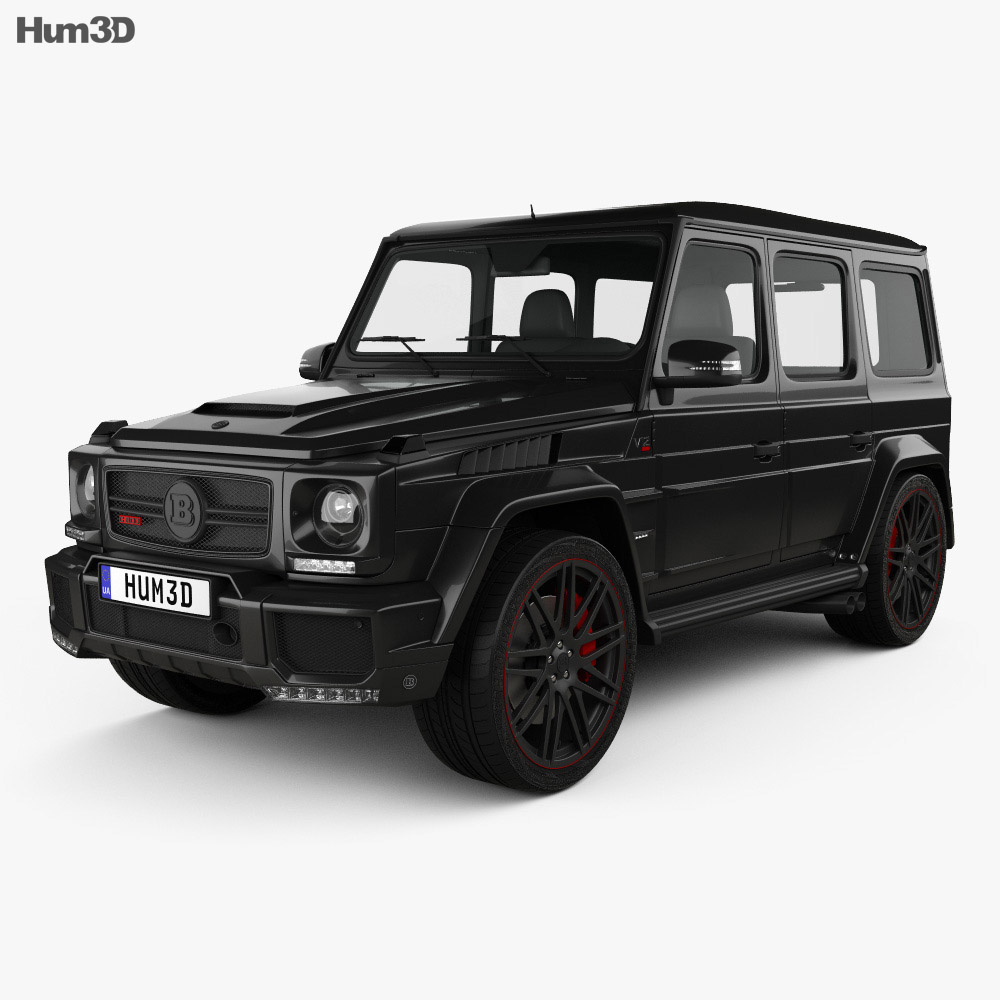 Mercedes benz g class g800 brabus widestar 2013 3d model for Mercedes benz g class brabus