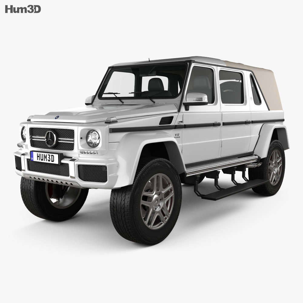 mercedes benz g class w463 maybach landaulet 2017 3d model hum3d. Black Bedroom Furniture Sets. Home Design Ideas
