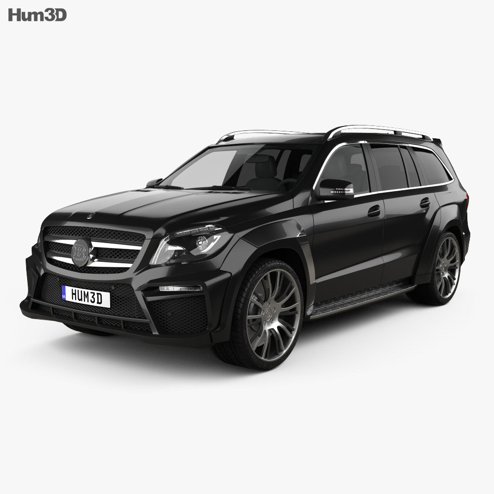 mercedes benz gl class x166 brabus b63 2013 3d model humster3d. Black Bedroom Furniture Sets. Home Design Ideas