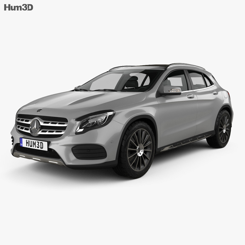 Mercedes benz gla lass x156 amg line 2017 3d model hum3d for Models of mercedes benz
