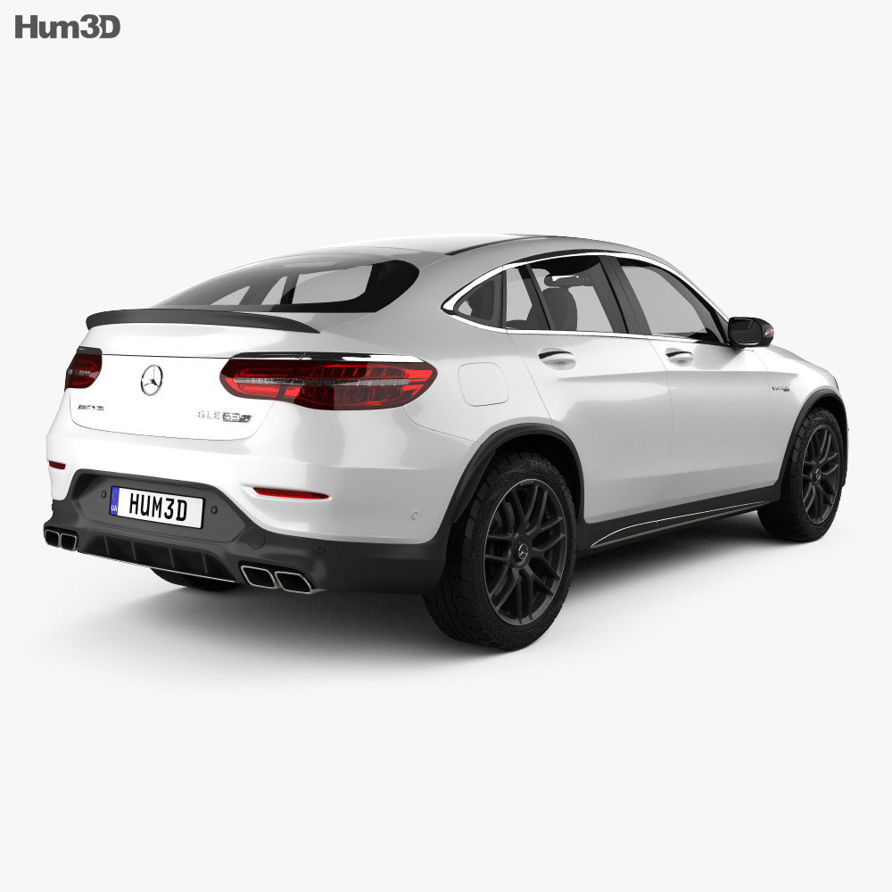 Discount Mercedes Parts >> Mercedes-Benz GLC-Class (C253) Coupe S AMG 2017 3D model - Hum3D