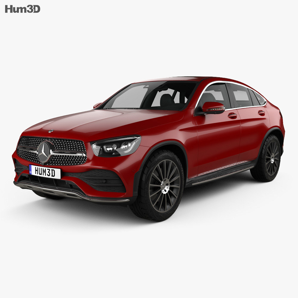 Mercedes Benz Glc Class Amg Line Coupe 2019 3d Model