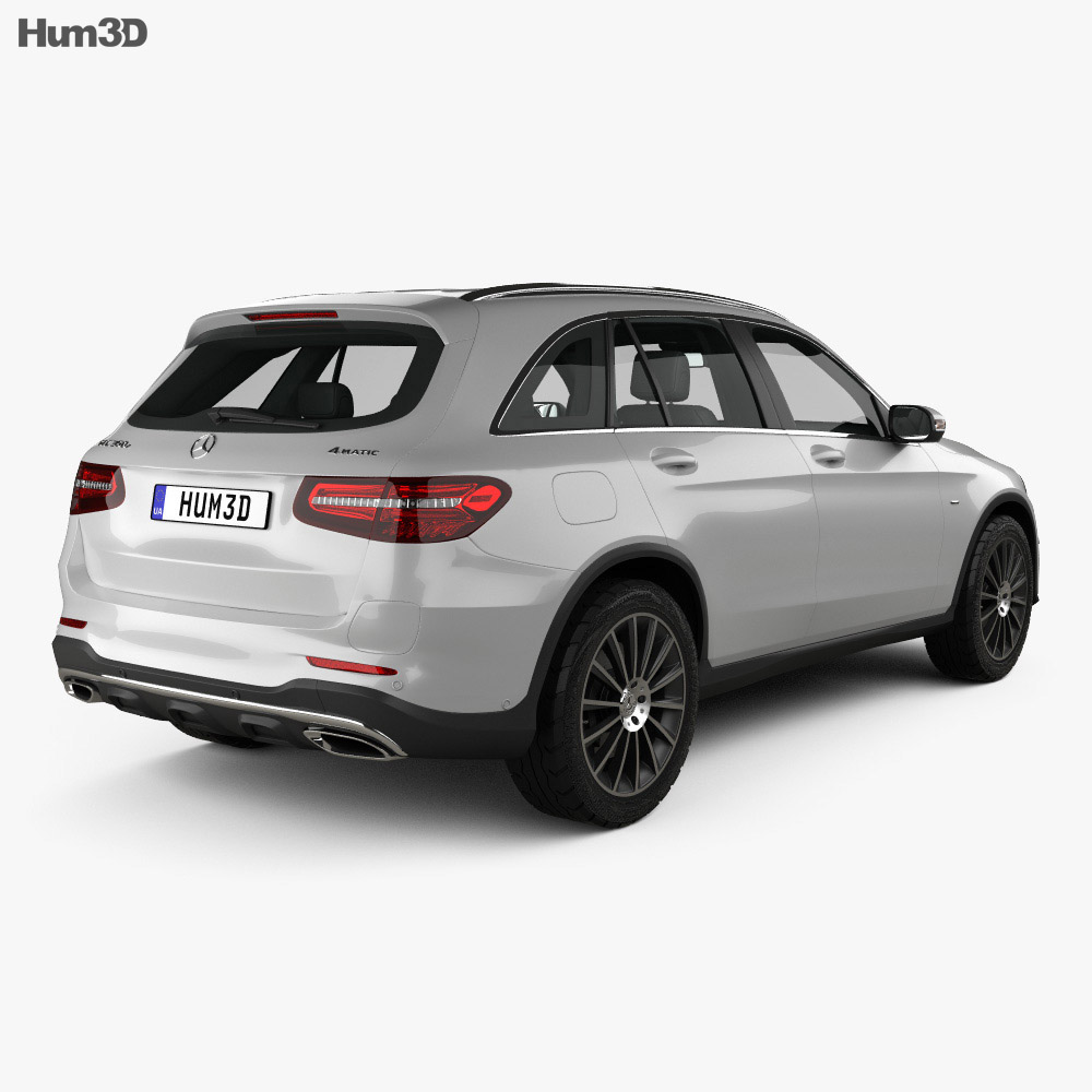 Mercedes-Benz GLC-class (X205) AMG Line with HQ interior 2015 3d model