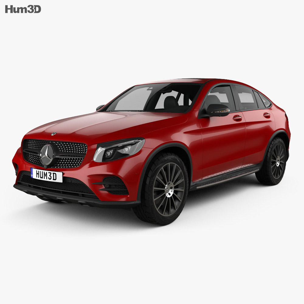 Mercedes-Benz GLC-Class (C253) Coupe AMG Line 2016 3d model
