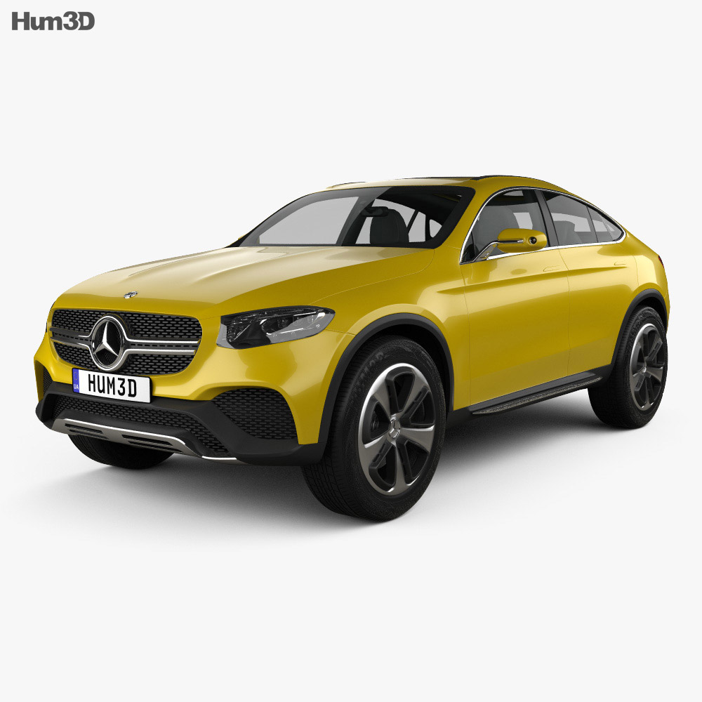 mercedes benz glc coupe concept 2014 3d model humster3d