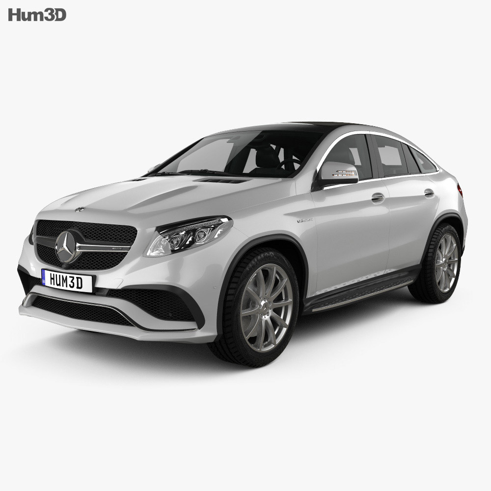 mercedes benz gle class c292 coupe amg 2014 3d model vehicles on hum3d. Black Bedroom Furniture Sets. Home Design Ideas