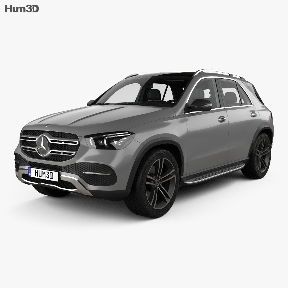 Mercedes-Benz GLE-class with HQ interior 2019 3d model