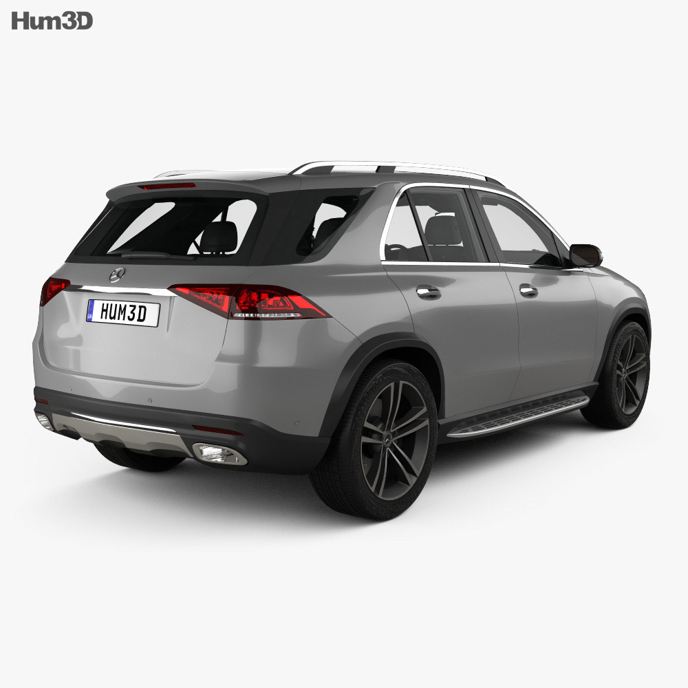 Mercedes-Benz GLE-class with HQ interior 2019 3d model back view