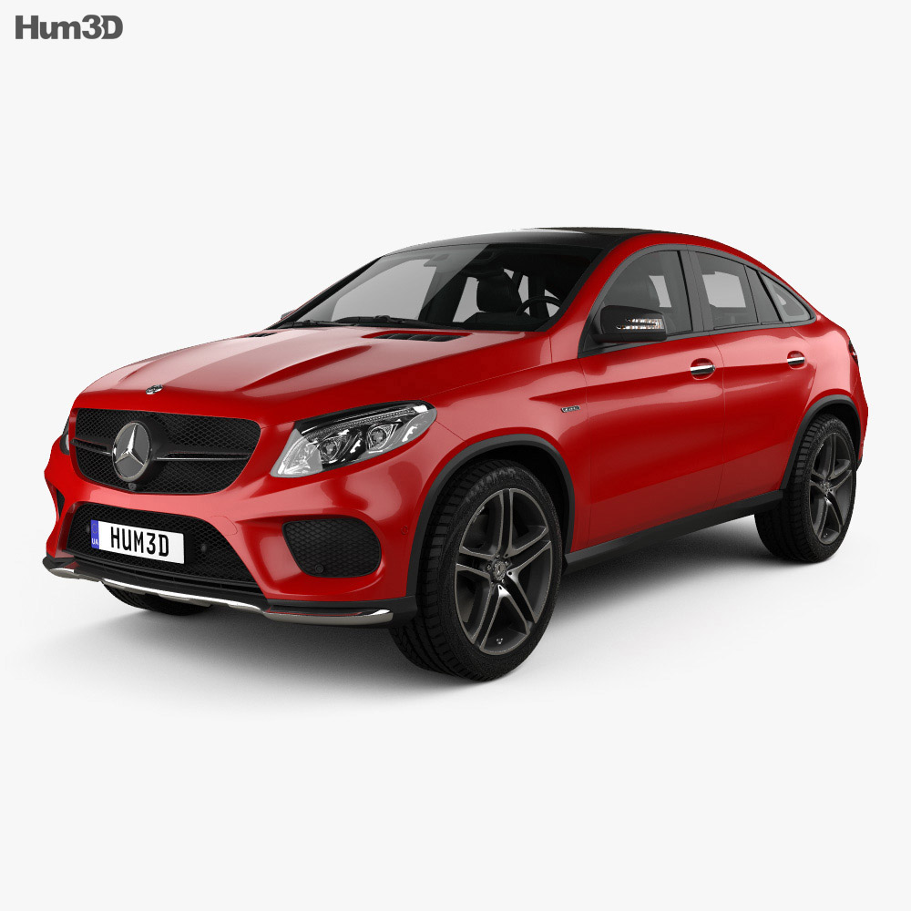 Mercedes-Benz GLE-Class AMG Line coupe 2014 3d model