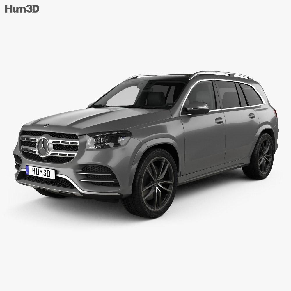 Mercedes-Benz GLS-class AMG-Line 2019 3D Model