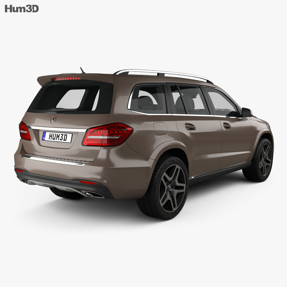 Mercedes benz gls class amg line 2015 3d model hum3d for Models of mercedes benz