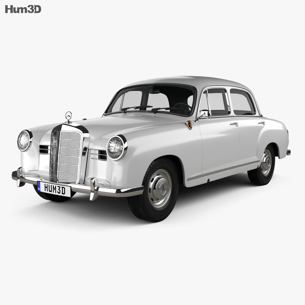 Mercedes-Benz Ponton 180 W120 1953 3d model