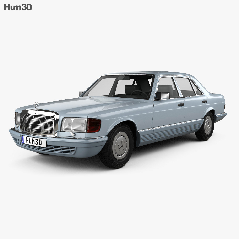 Mercedes-Benz S-Class (W126) 1979 3d model