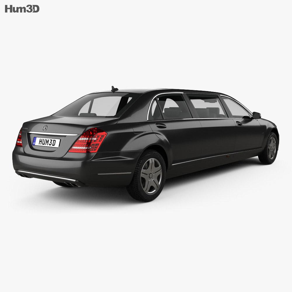 Mercedes-Benz S-Class (W221) Pullman 2012 3D Model
