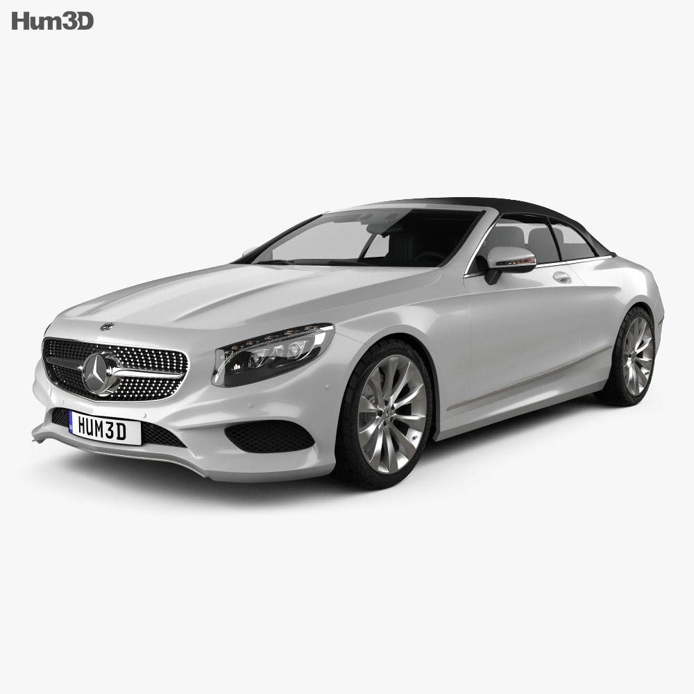 Mercedes benz s class cabriolet 2014 3d model humster3d for Mercedes benz s class convertible