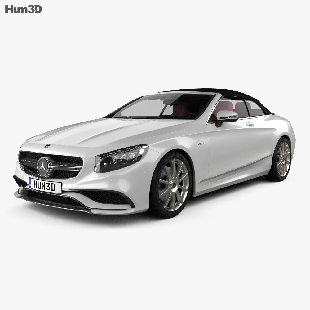 Mercedes-Benz S-class AMG cabriolet 2014 3d model