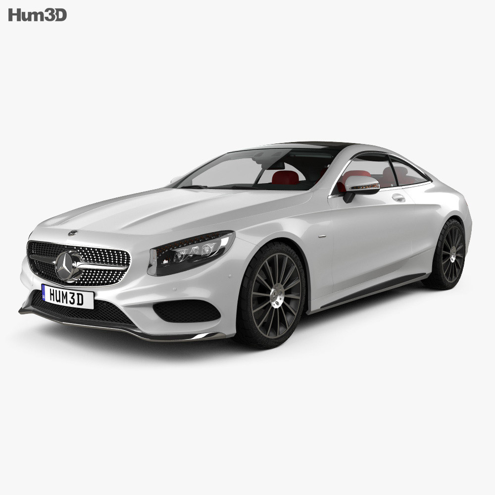 Mercedes-Benz S-Class AMG Sports Package (C217) coupe with HQ interior 2014 3d model