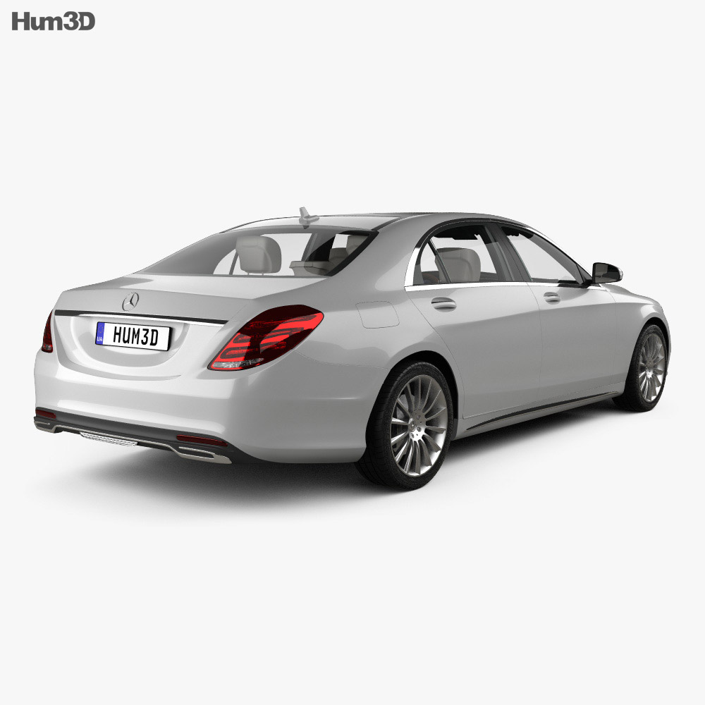 Mercedes-Benz S-Class (W222) with HQ interior 2014 3d model