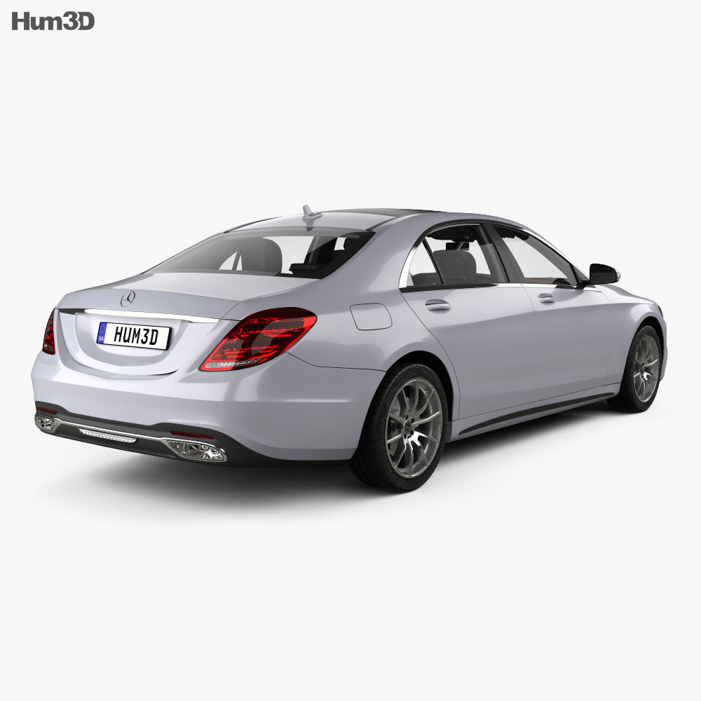 Mercedes-Benz S-class (V222) LWB AMG Line with HQ interior 2017 3d model