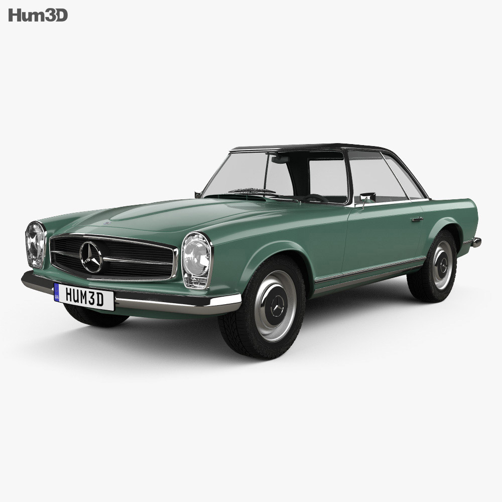 Mercedes benz sl class w113 1963 3d model humster3d for Mercedes benz w113