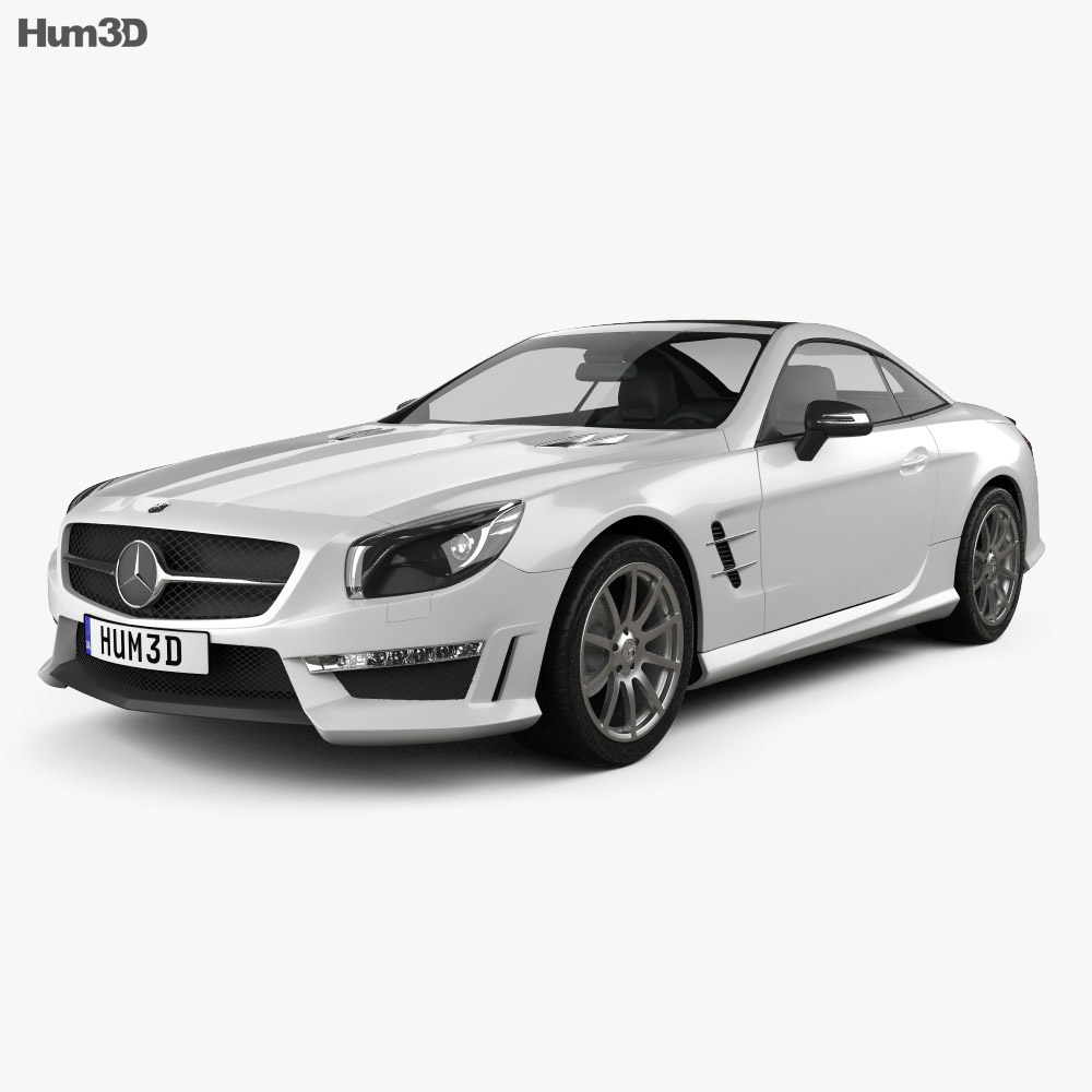 Mercedes benz sl class r321 amg 2013 3d model hum3d for Models of mercedes benz