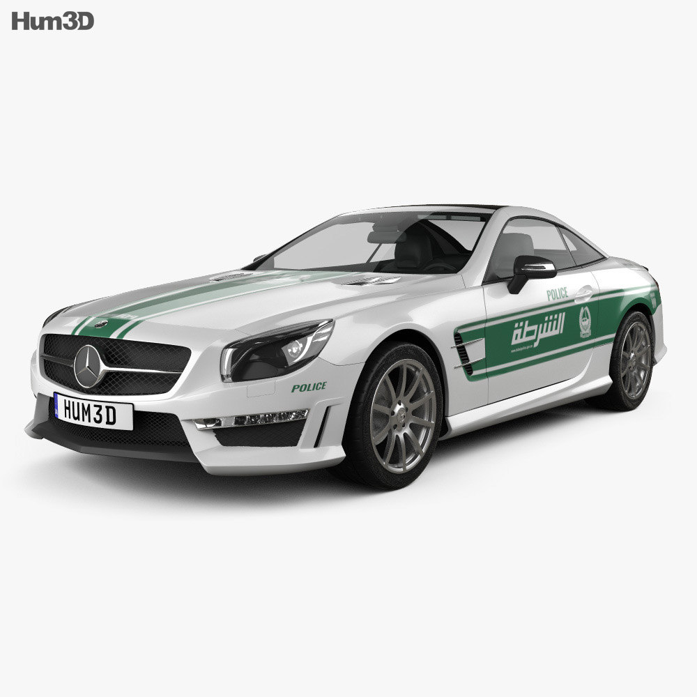 Mercedes Benz SL Class (R321) AMG Police Dubai 2013 3d Model ...