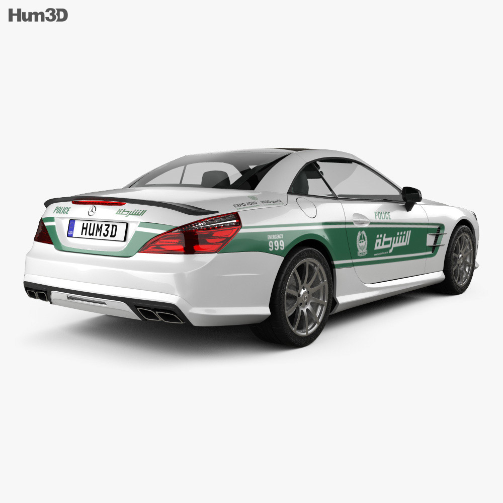 Mercedes-Benz SL-class (R321) AMG Police Dubai 2013 3d model