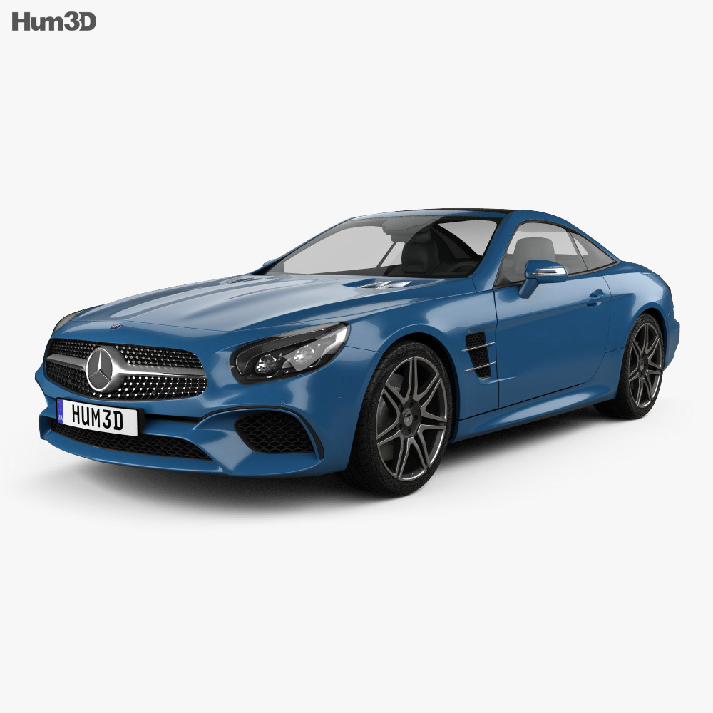 mercedes benz sl class r231 2015 3d model hum3d