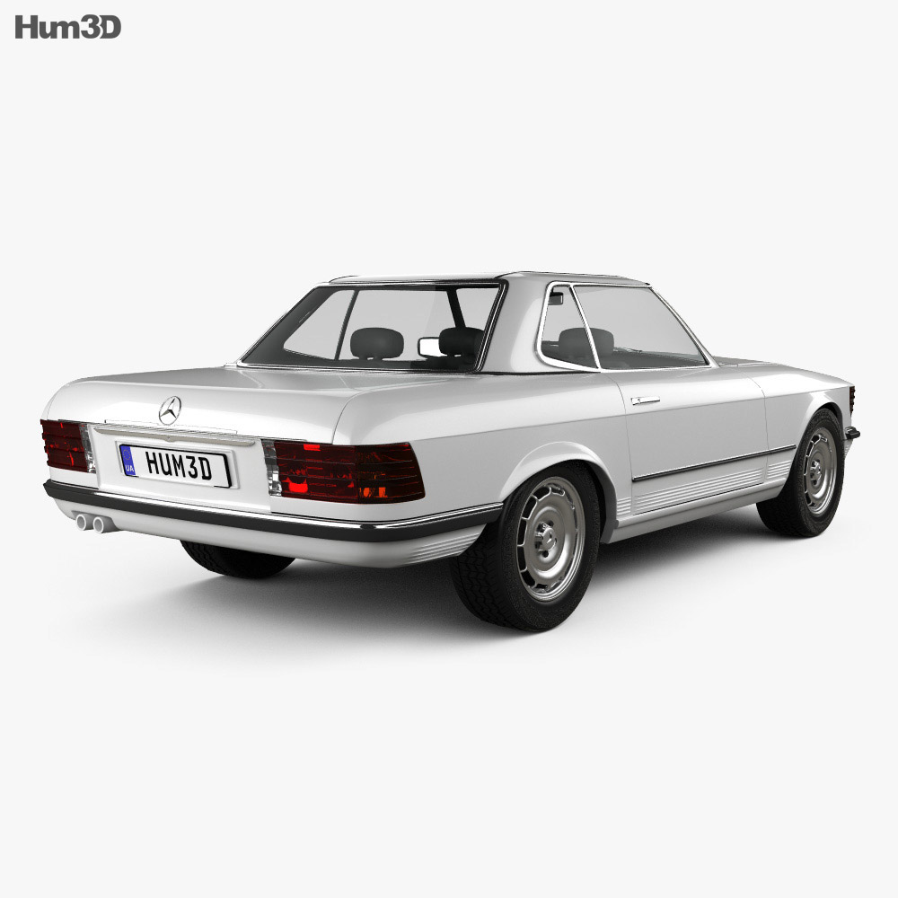 Mercedes-Benz SL-Class R107 coupe 1972 3d model
