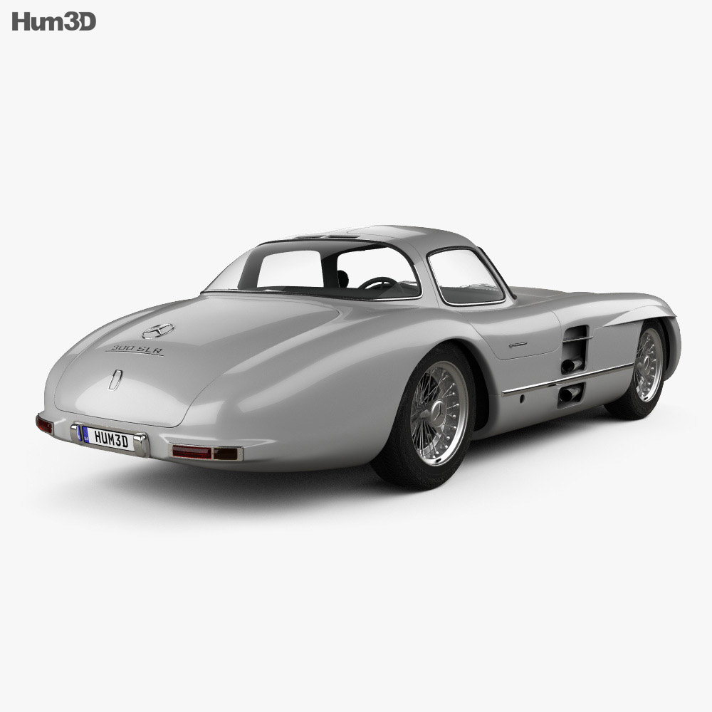 Mercedes-Benz SLR 300 Uhlenhaut Coupe 1955 3d model
