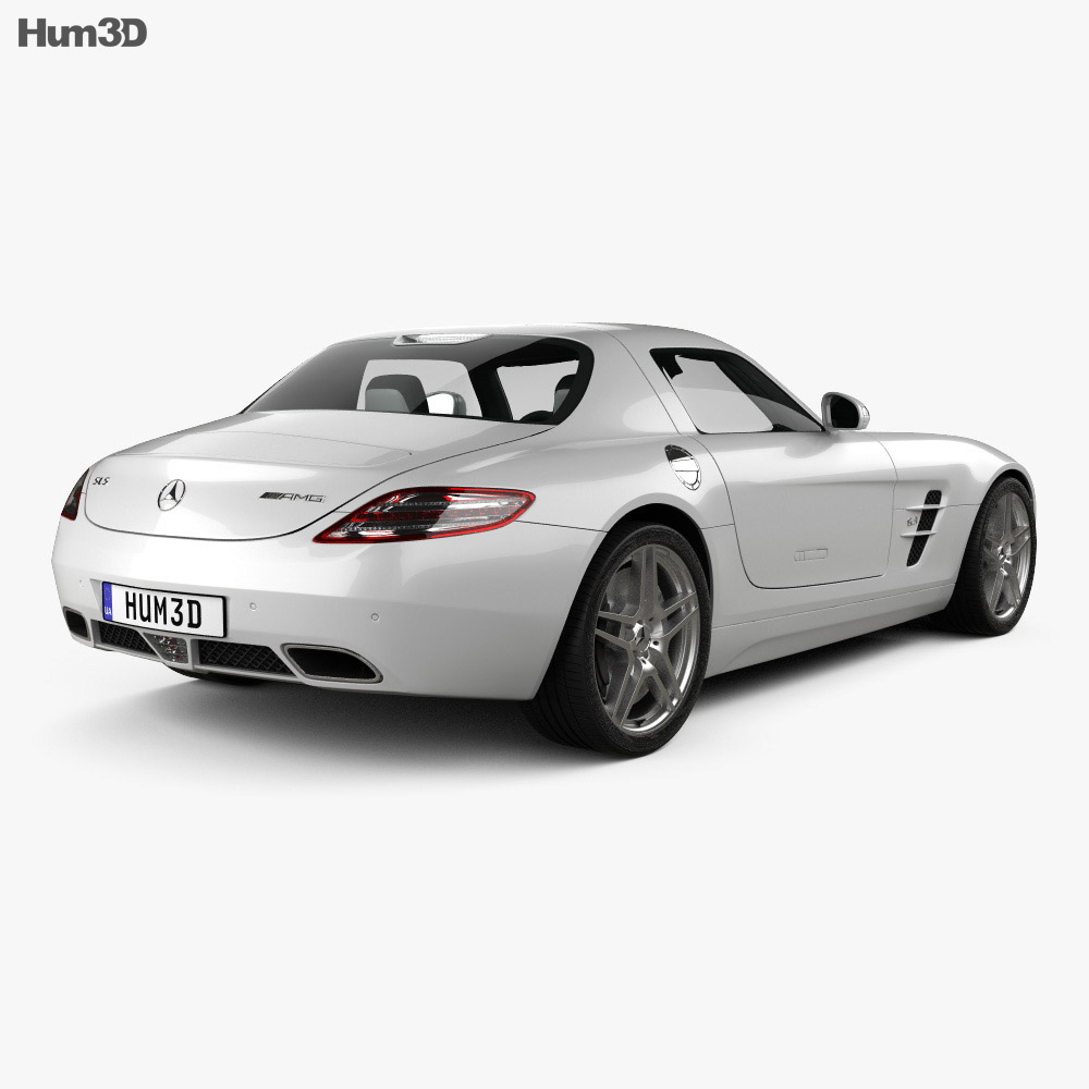 Mercedes-Benz SLS-class with HQ interior 2011 3d model