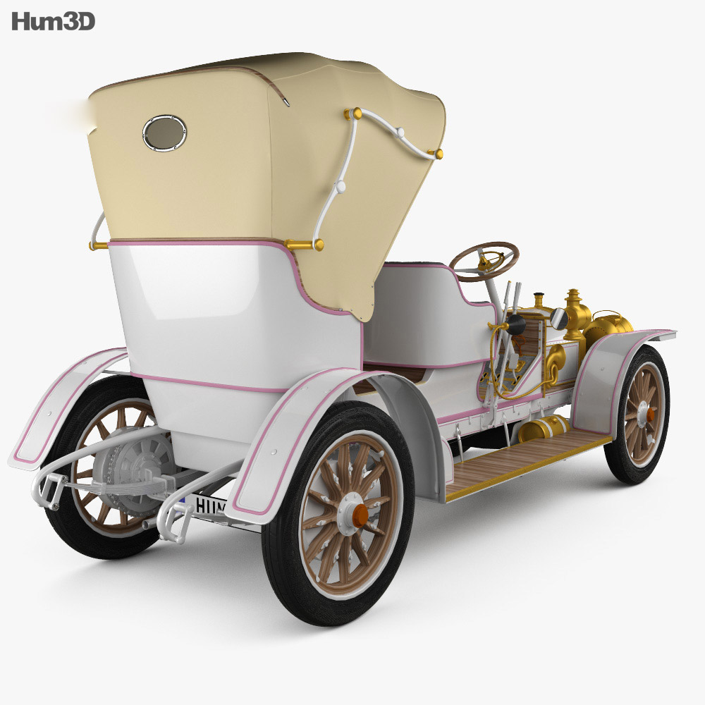 Mercedes-Benz Simplex 28-32 Phaeton 1905 3d model