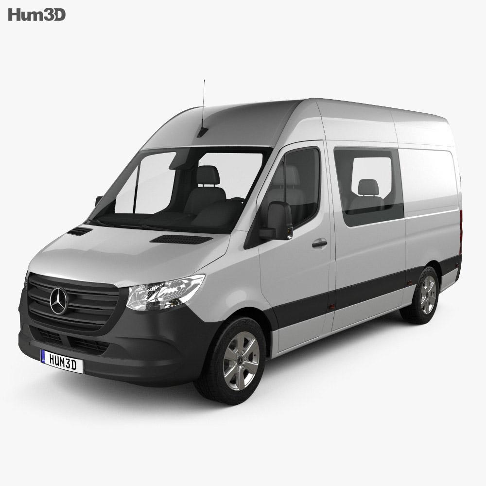 Goede Mercedes-Benz Sprinter Crew Van L2H2 2019 3D model - Vehicles on Hum3D VE-16