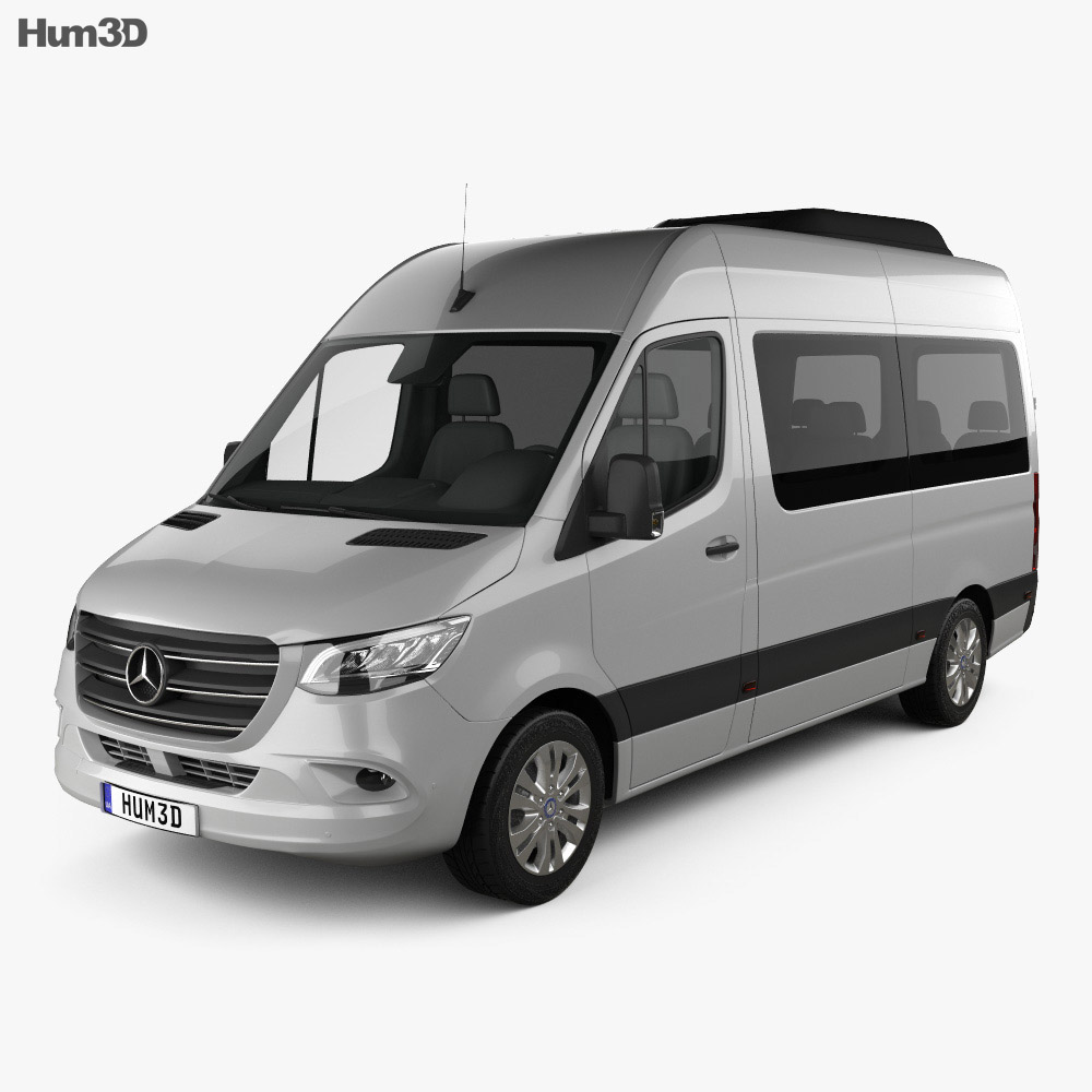 Mercedes-Benz Sprinter (W907) Passenger Van L2H2 2019 3d model