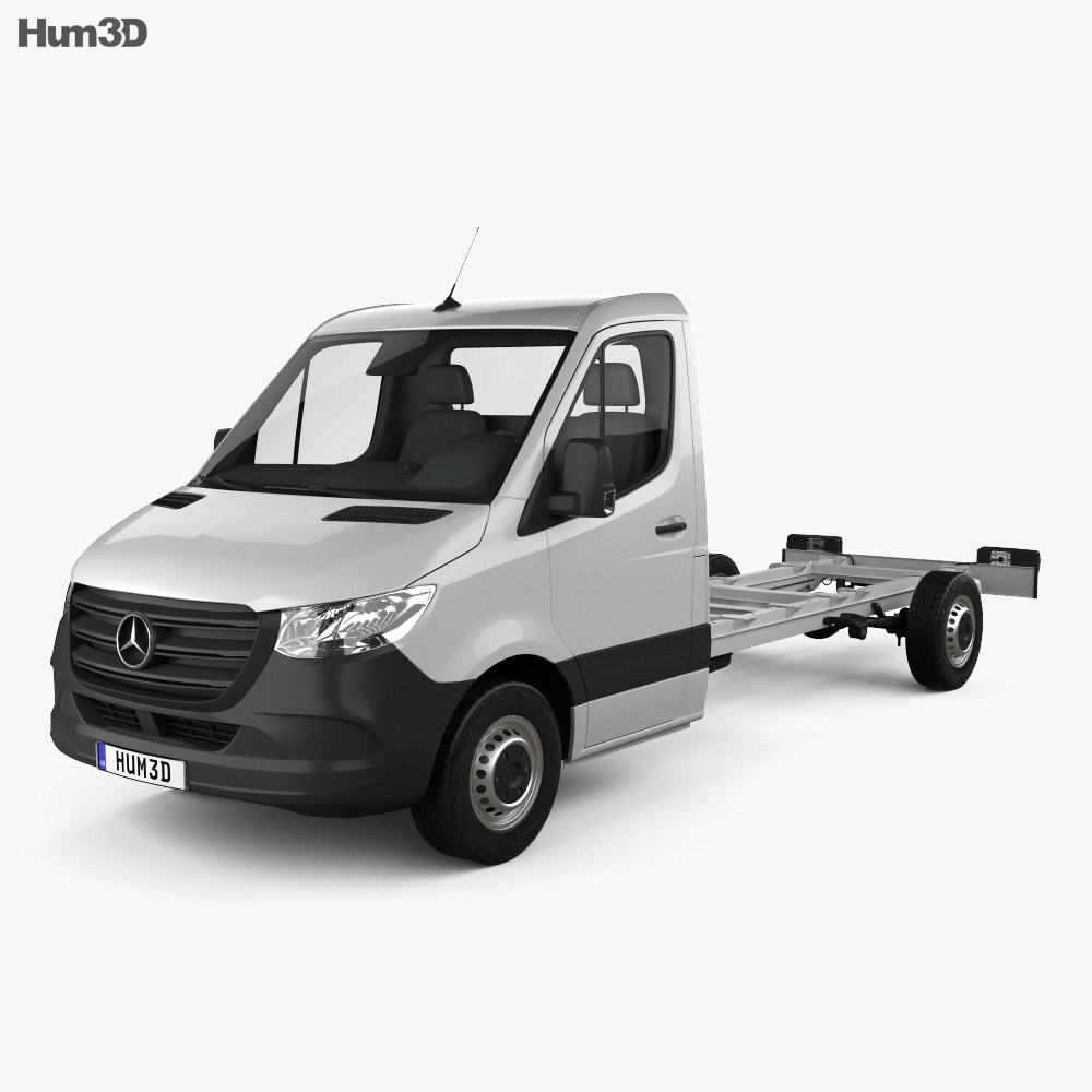 Mercedes-Benz Sprinter (W907) Single Cab Chassis L3 2019 3d model
