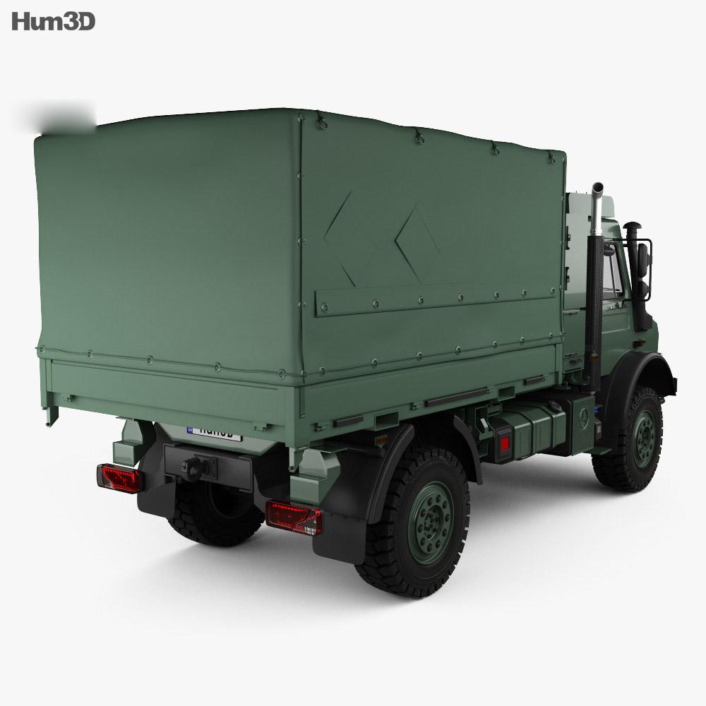 Mercedes-Benz Unimog U5000 Military Truck 2002 3d model