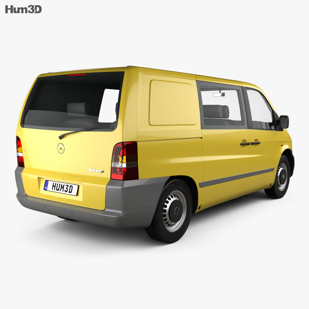 mercedes benz vito w638 kombi van 1996 3d model humster3d. Black Bedroom Furniture Sets. Home Design Ideas
