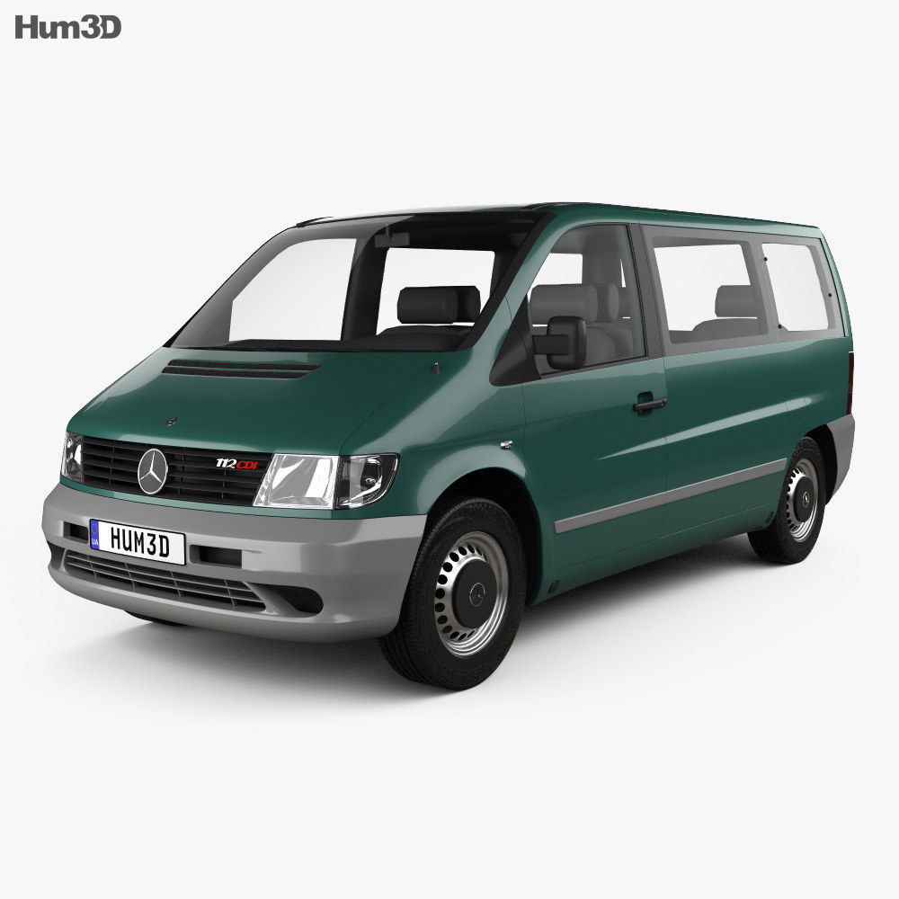 mercedes benz vito w638 passenger van 1996 3d model humster3d. Black Bedroom Furniture Sets. Home Design Ideas