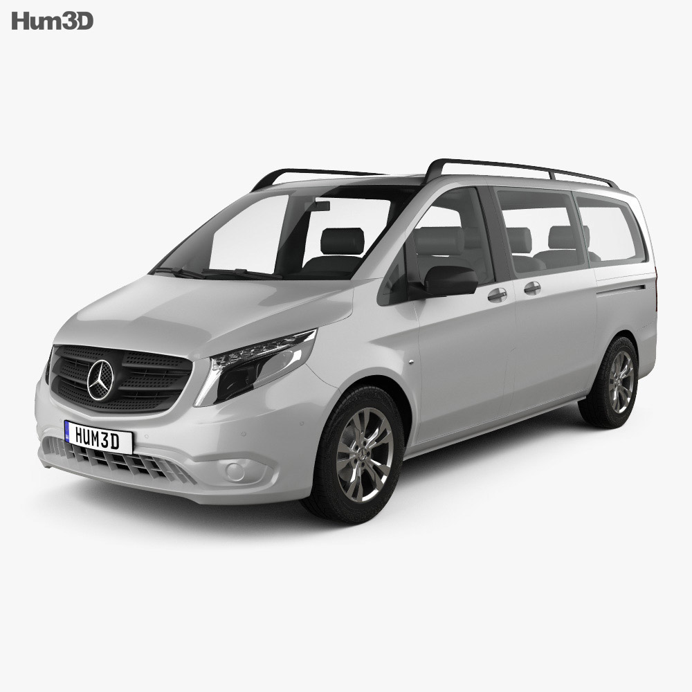 mercedes benz vito tourer select l2 w447 2014 3d model hum3d. Black Bedroom Furniture Sets. Home Design Ideas