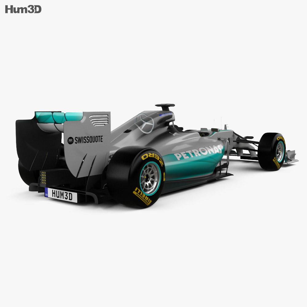 Mercedes benz w05 2014 3d model hum3d for 2014 mercedes benz models