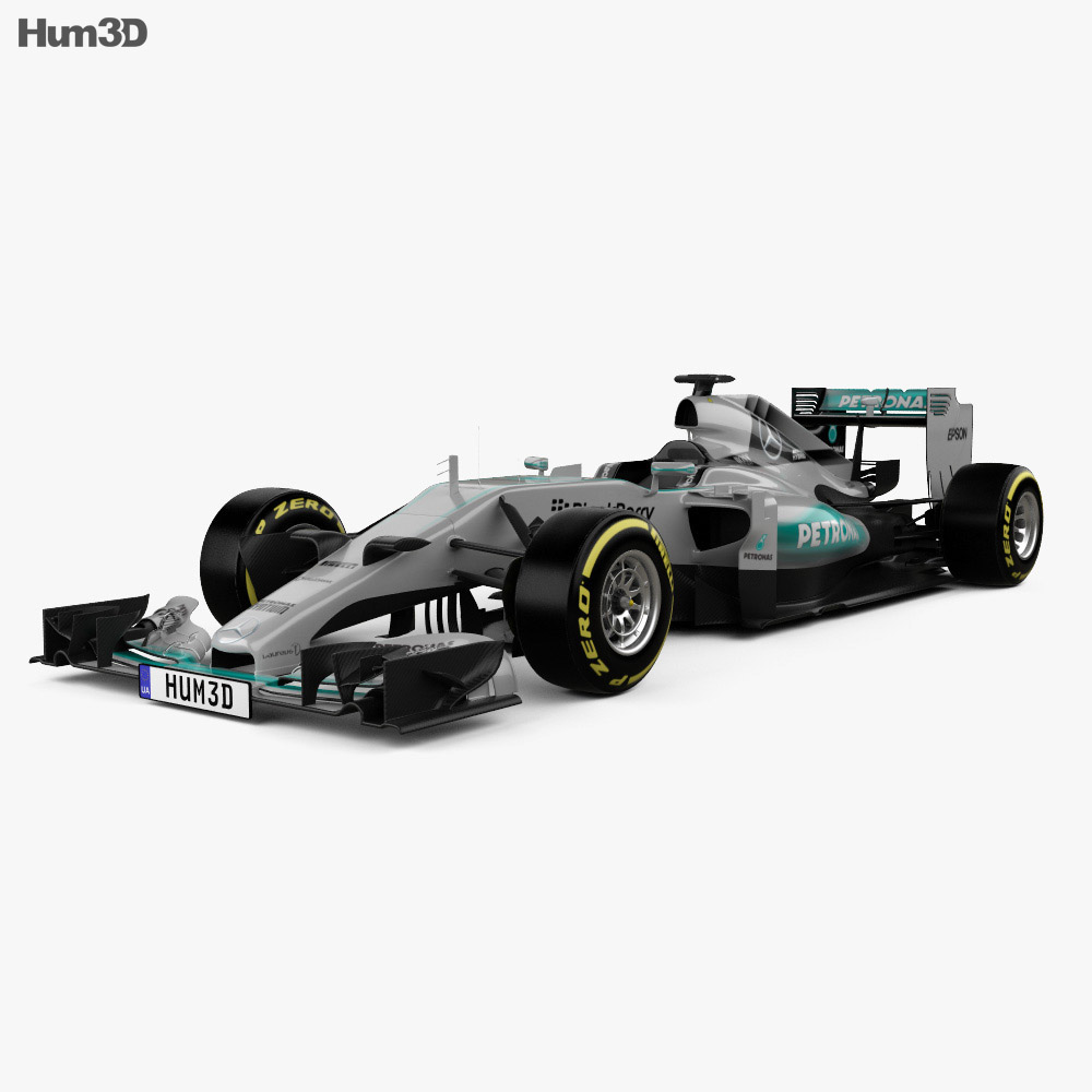 Mercedes benz f1 w06 hybrid 2015 3d model hum3d for Mercedes benz hybrid models