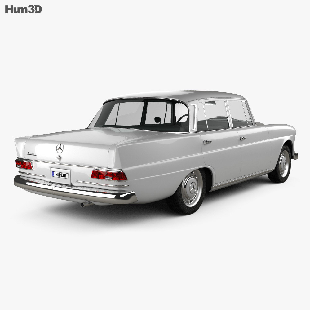 Mercedes benz w110 1966 3d model humster3d for Models of mercedes benz