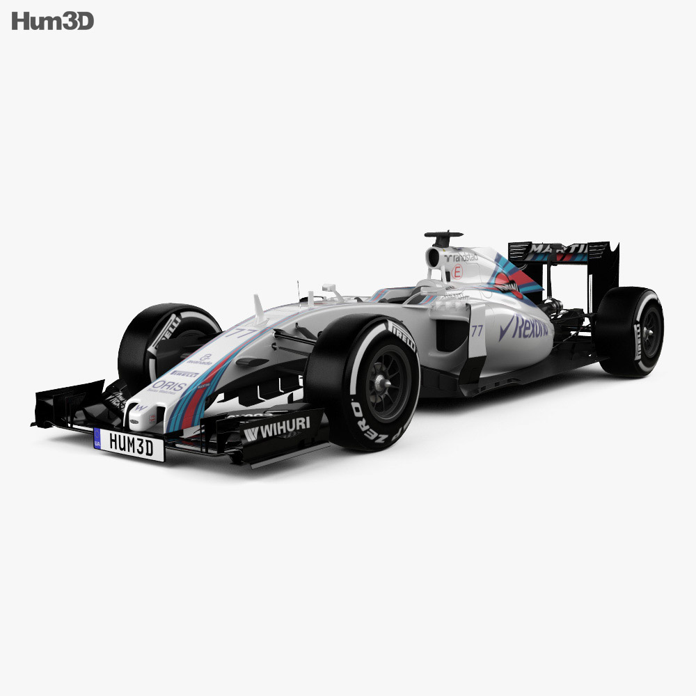 Williams FW38 2016 3d model