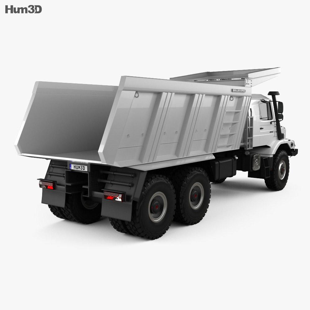 Mercedes-Benz Zetros Meiller Hinterkipper M325 Dump Truck 2019 3d model