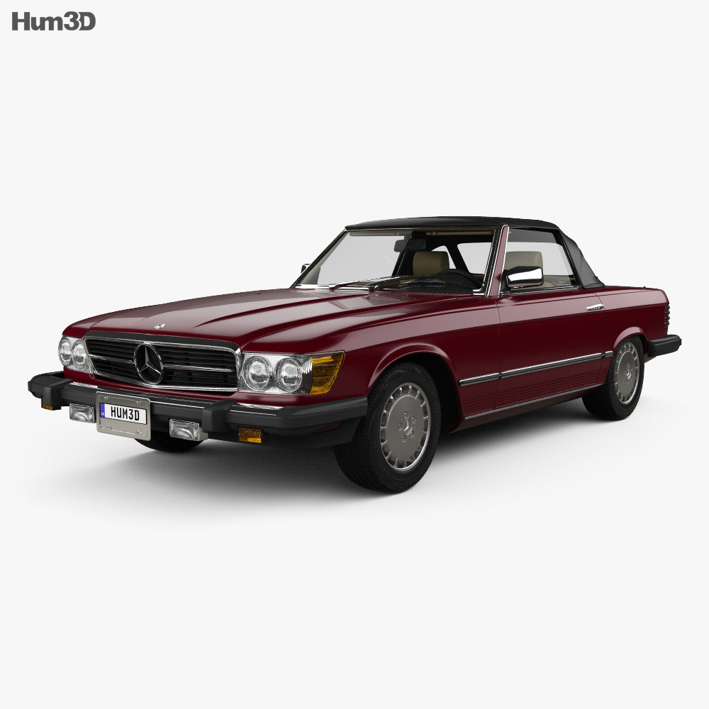 Mercedes-Benz SL-Class (R107) (US) 1974 3d model