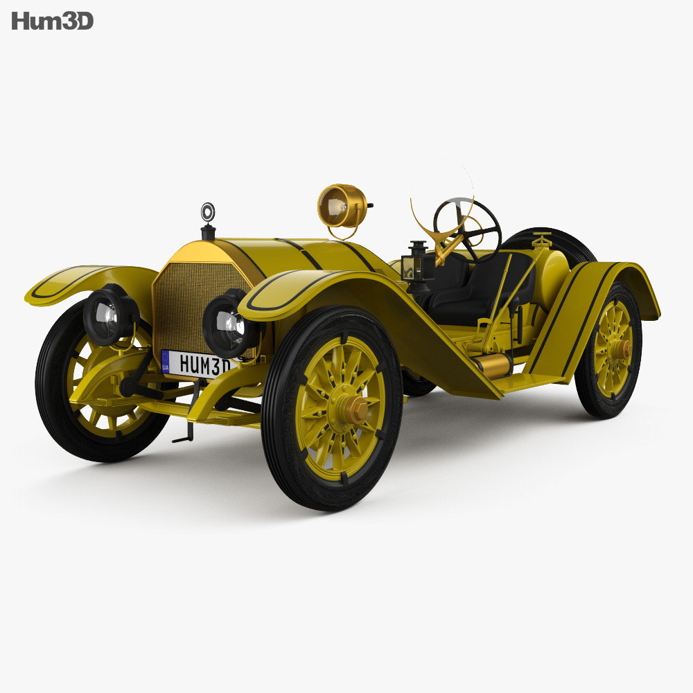 3D model of Mercer 35R Raceabout 1910