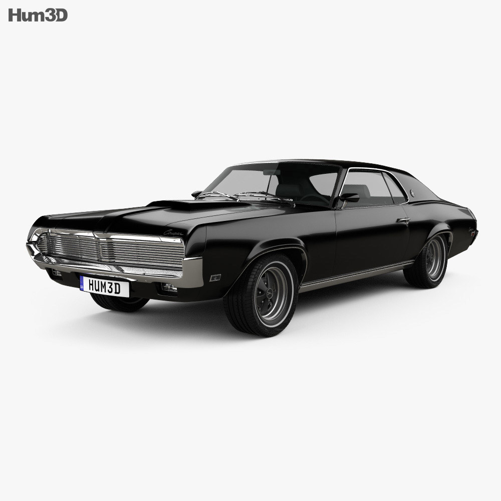 Mercury Cougar XR-7 1969 3d model