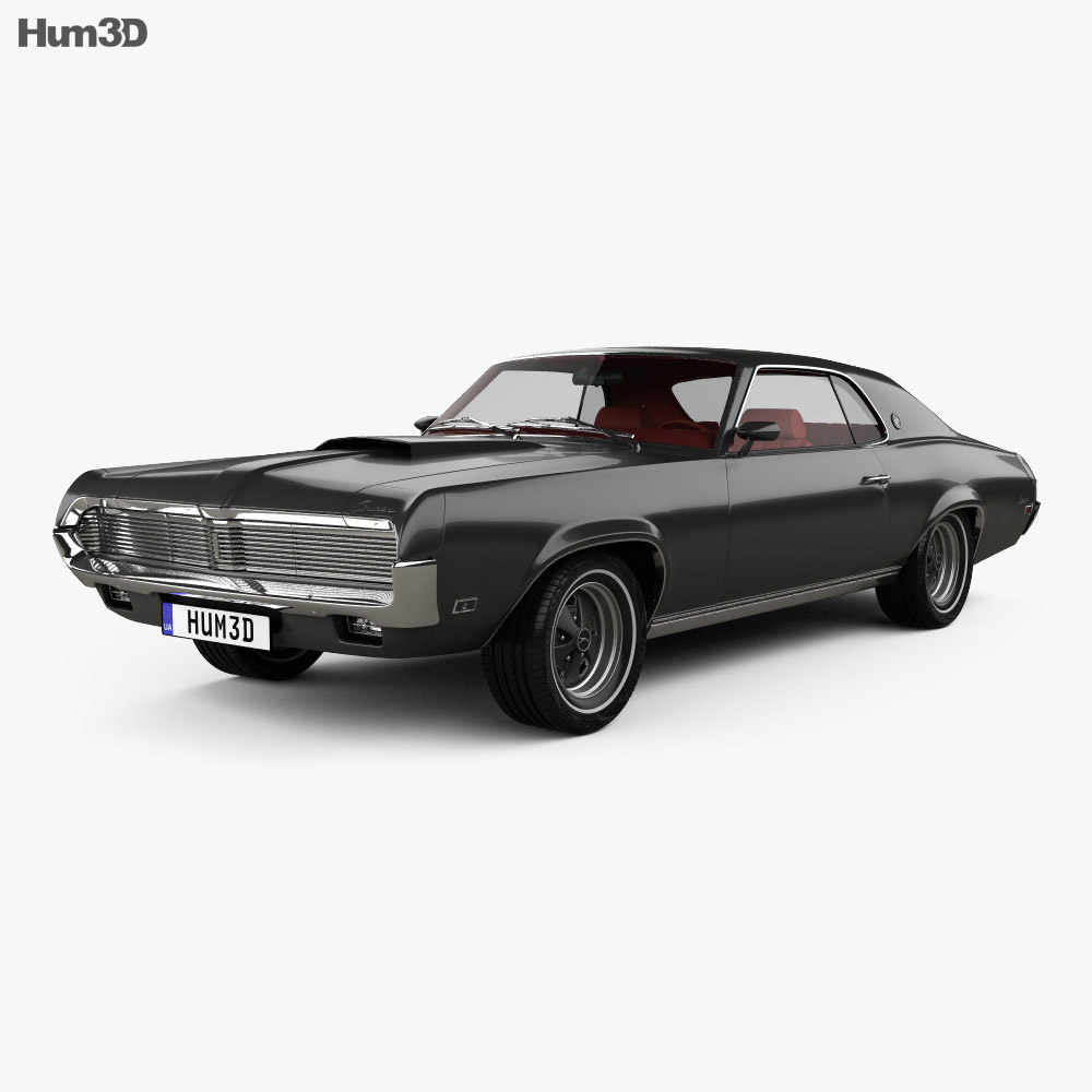 Mercury Cougar XR-7 with HQ interior 1969 3d model